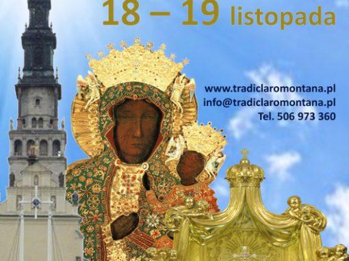 Plakat pielgrzymki – Tradiclaromontana2016.