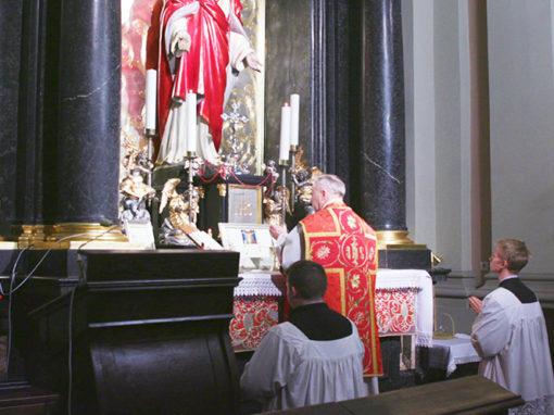 Msza Święta w intencji dobroczyńców pielgrzymki Tradiclaromontana.